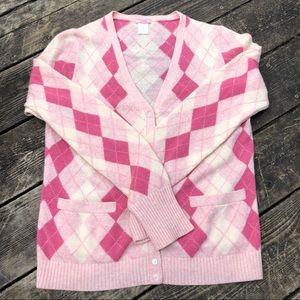 Super soft J. Crew pink cashmere cardigan